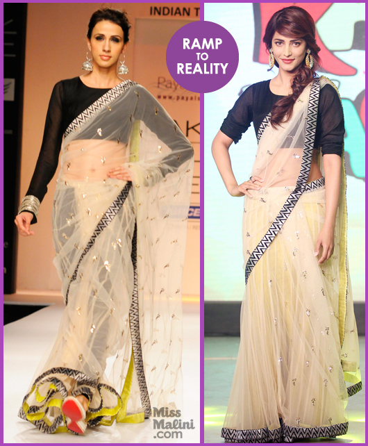 Shruti Hassan in Payal Singhal Saree