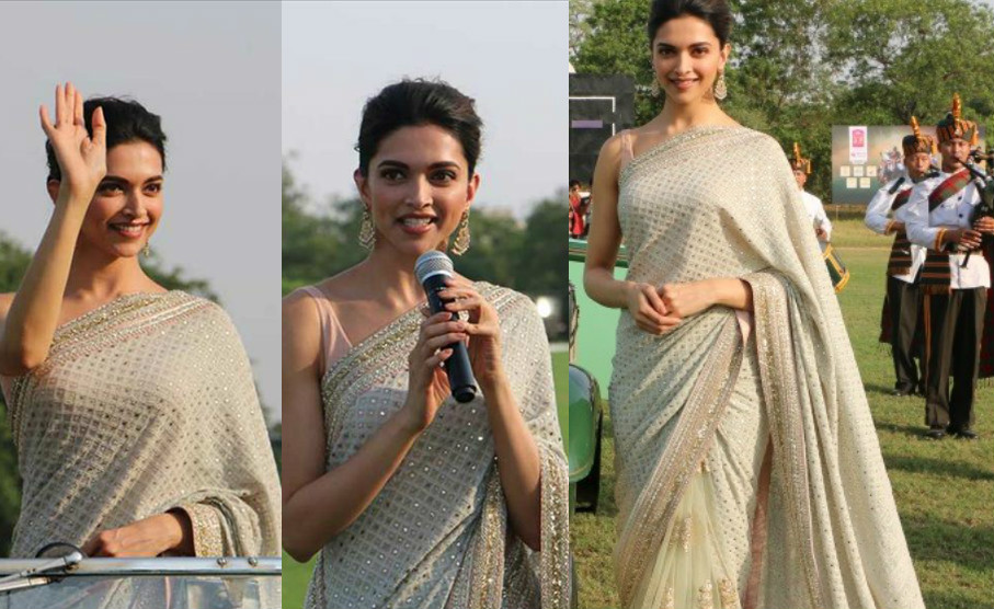 Deepika Padukone Sarees - Awards, Party, Wedding, Engagement Function
