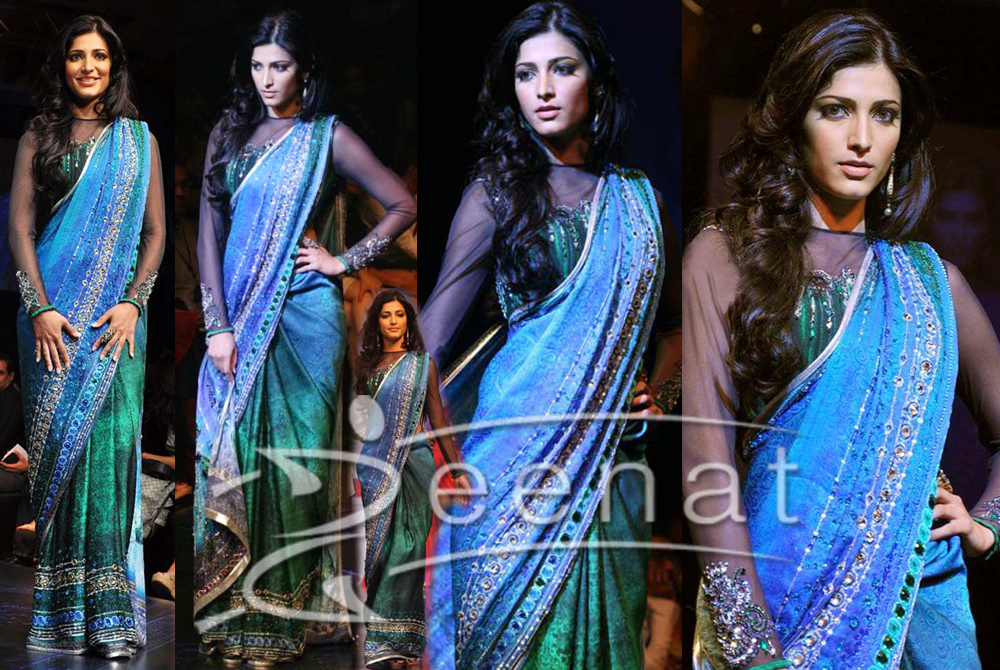 Shruti Hassan in Satya Paul Saree