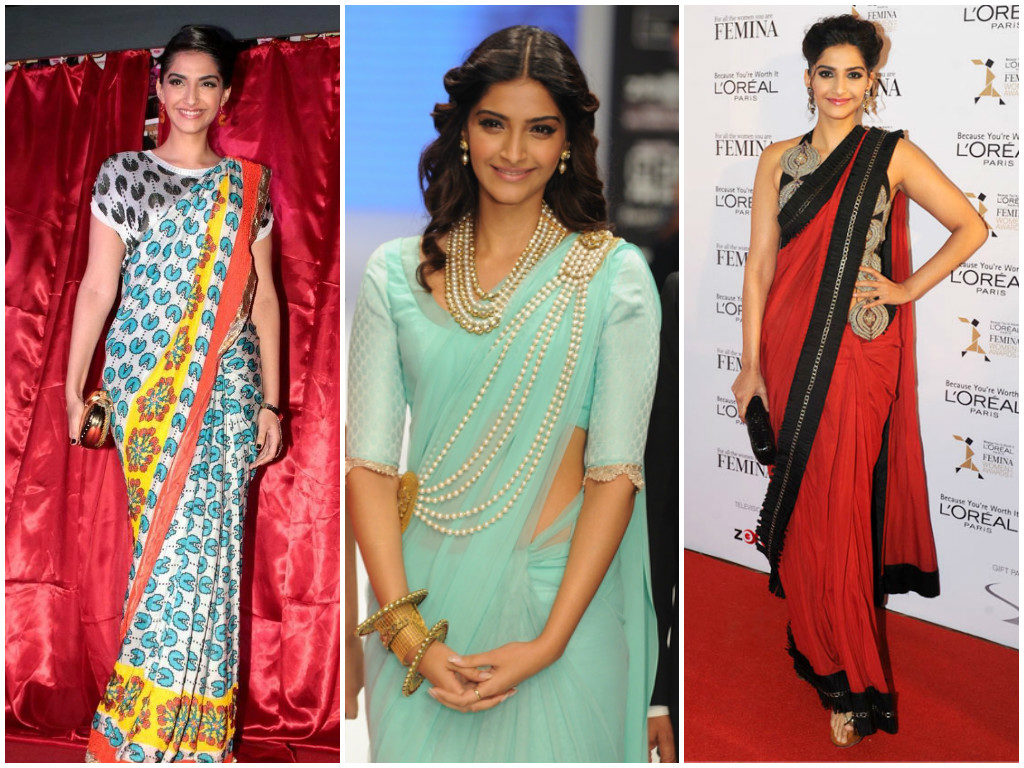 Best Sonam Kappor Sarees Collection