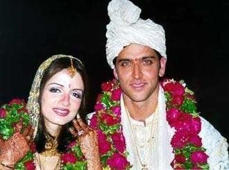 Hrithik Roshan & Suzanne Khan, Married in 2000 at Golden Palms resort in Bangalore