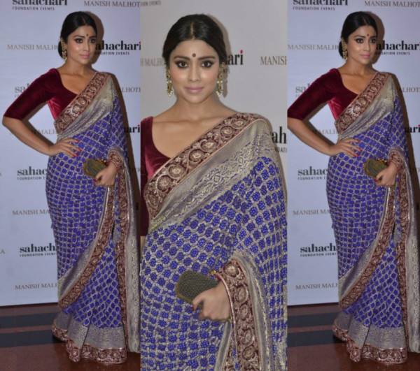 Shriya Saran at Manish Malhotra show for Sahachari Foundation