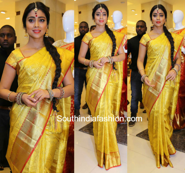 Shriya Saran in a kanjeevaram saree