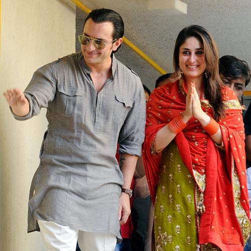Saif ali khan and Kareena kapoor wedding in 2012