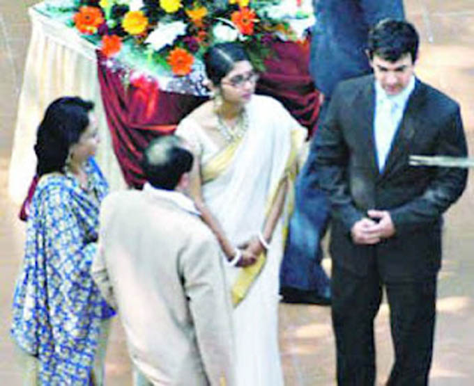 Amir khan & Kiran Rao wedding in 2005