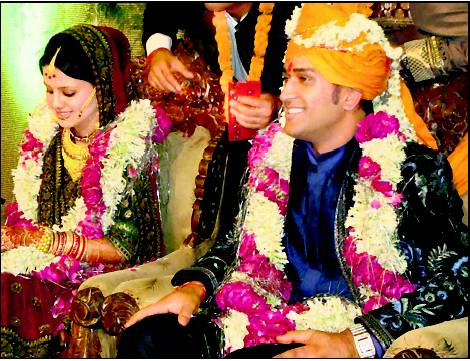 Dhoni & Sakshi Wedding in 2010