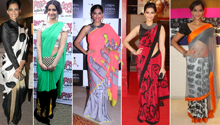 Simple and Elegant5 Best Sonam Kappor Sarees
