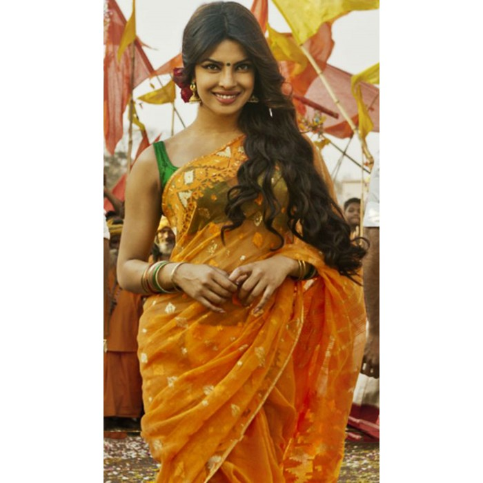 Priyanka Chopra Orange Saree In Movie Gunday