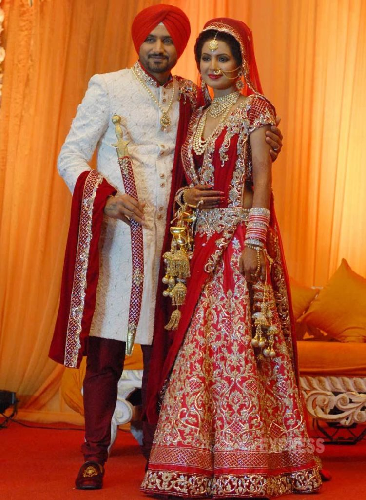 Harbhajan Singh married a Bollywood actress Geeta Basra