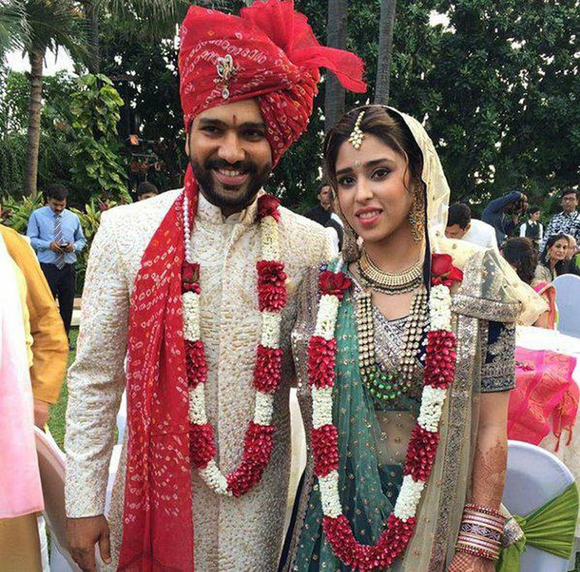 Rohit Sharma and Ritika Sajdeh wedding in 2015