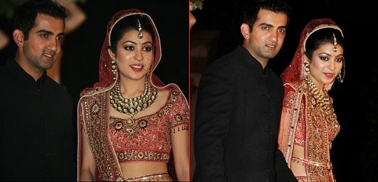 Natasha Jain and Gautam Ghambhir wedding