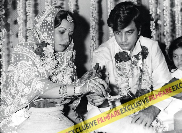 Shobha & Jeetendra wedding in 1974 at the Janki Kutir