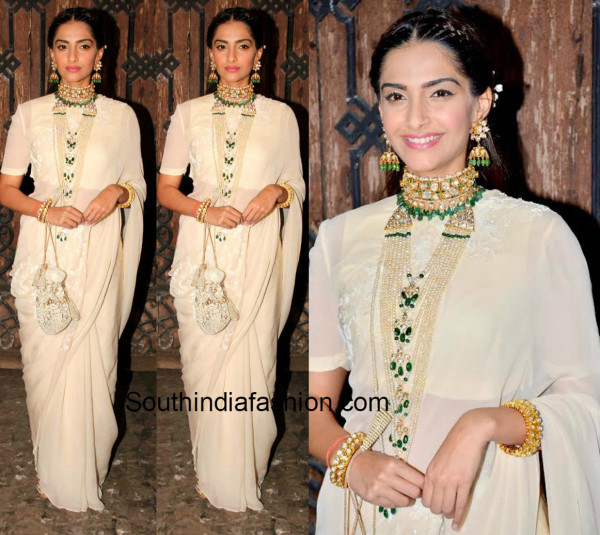 Bollywood actress Sonam Kapoor in an Anamika Khanna saree