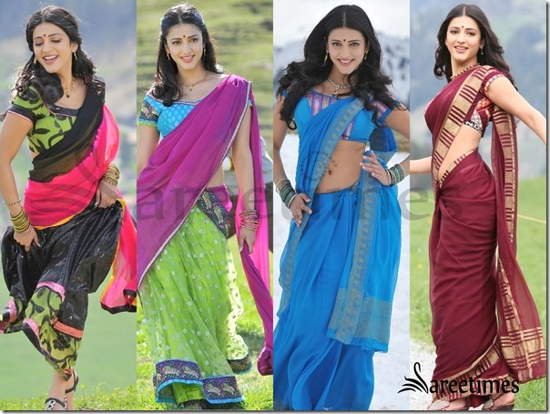 Sruthi Hassan Gabbar Singh Back Movie Saree