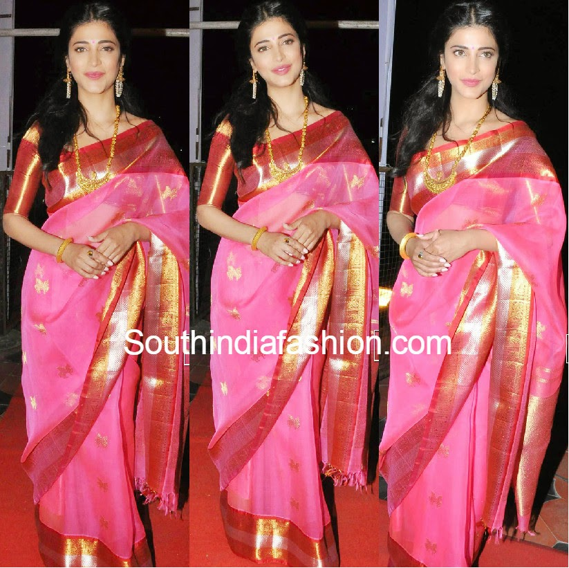 Shruti Hassan in Traditional Saree
