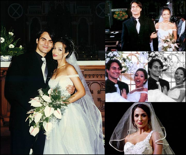 Arbaz Khan and Malaika Arora wedding in 1998 in a Church