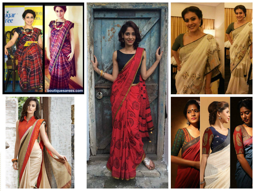 Blouse Designs for Cotton Saree