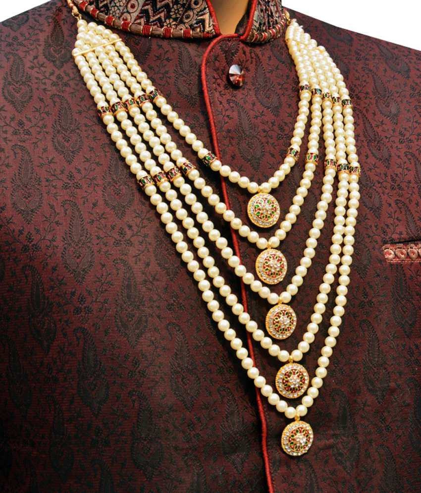 Pearl Mala for Groom - Dulha Wedding Accessories